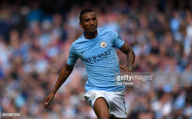 Manchester City player Danilo in action during the Premier League match between Manchester City and Liverpool at Etihad Stadium on September 9 2017...