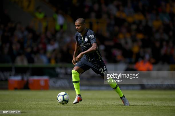 Manchester City player Fernandinho in action during the Premier League match between Wolverhampton Wanderers and Manchester City at Molineux on...