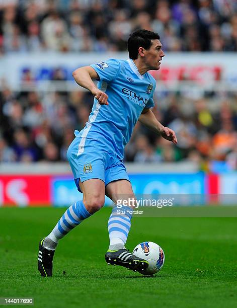 Manchester City player Gareth Barry in action during the Barclays Premier league match between Newcastle United and Manchester City at Sports Direct...