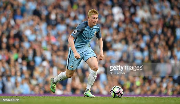 Manchester City player Kevin De Bruyne in action during the Premier League match between Manchester City and Sunderland at Etihad Stadium on August...