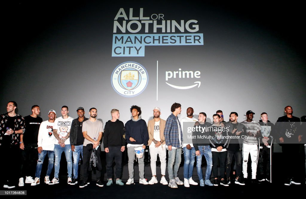 Manchester City Players Attend the Premier of Amazon Prime's 'All or Nothing: Manchester City' : News Photo
