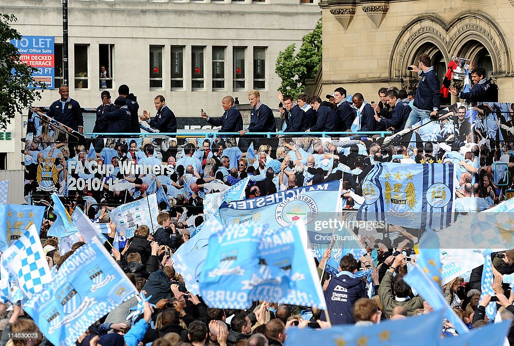 Manchester City FA Cup Winners Parade : News Photo