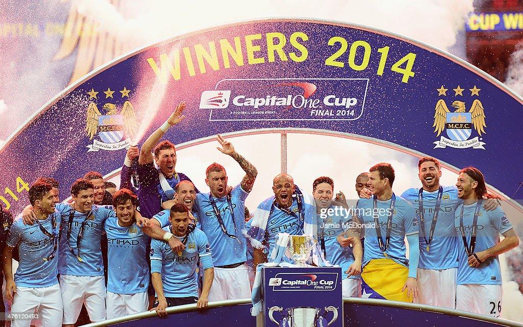 Manchester City v Sunderland - Capital One Final : News Photo