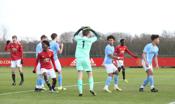 GBR: Manchester United v Manchester City: U18 Premier League