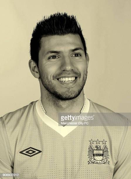 Manchester City Portrait Shoot Sergio Aguero Manchester City