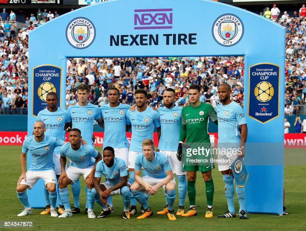 Manchester City poses for a team photo prior to the first half of the 2017 International Champions Cup Presented by Heineken against Tottenham at...