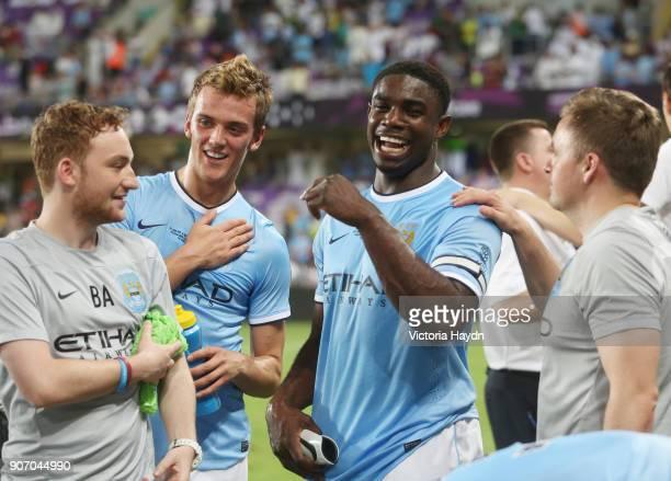 Manchester City Post Season Tour, Day Four, Al Ain v Manchester City, Hazza Bin Zayed Stadium, Abu Dhabi, Manchester City's Emyr Huws and Micah...