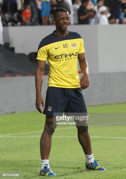 Manchester City Post Season Tour Day Three Abu Dhabi Manchester City's Greg Leigh at open training at Al Jazira Stadium in Abu Dhabi as part of their...