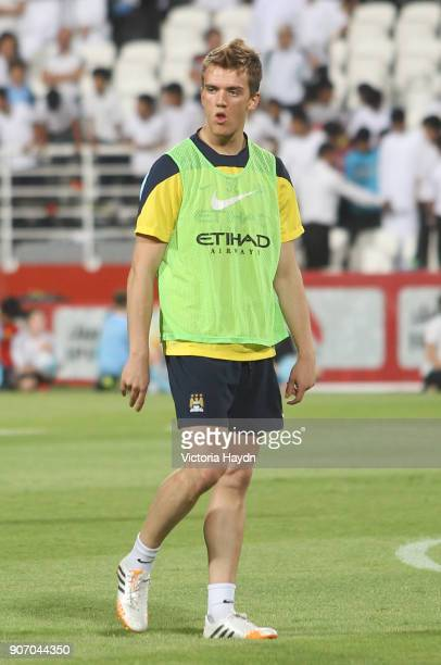 Manchester City Post Season Tour Day Three Abu Dhabi Manchester City's Emyr Huws at open training at Al Jazira Stadium in Abu Dhabi as part of their...
