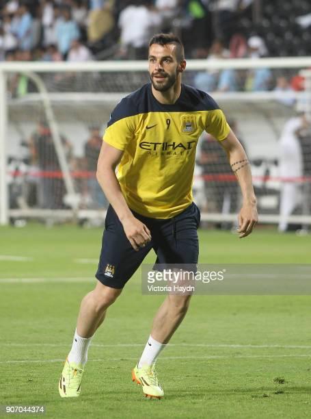 Manchester City Post Season Tour Day Three Abu Dhabi Manchester City's Alvaro Negredo at open training at Al Jazira Stadium in Abu Dhabi as part of...