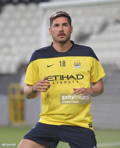 Manchester City Post Season Tour Day Three Abu Dhabi Manchester City's Javi Garcia at open training at Al Jazira Stadium in Abu Dhabi as part of...