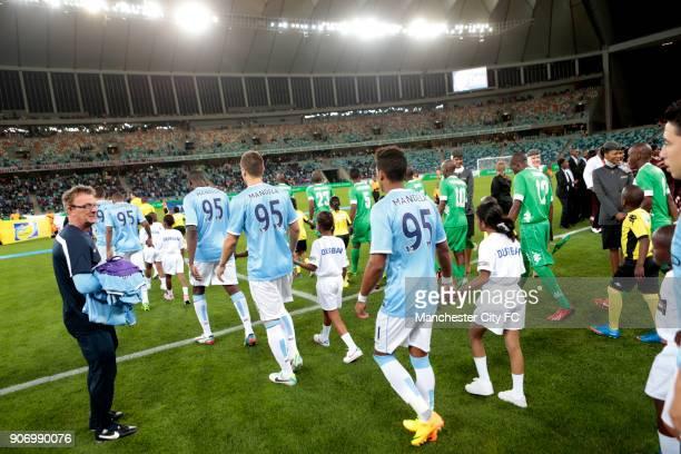Manchester City Pre Season Tour Nelson Mandela Football Invitational AmaZulu v Manchester City Moses Mabhida Stadium AmaZulu and Manchester City...