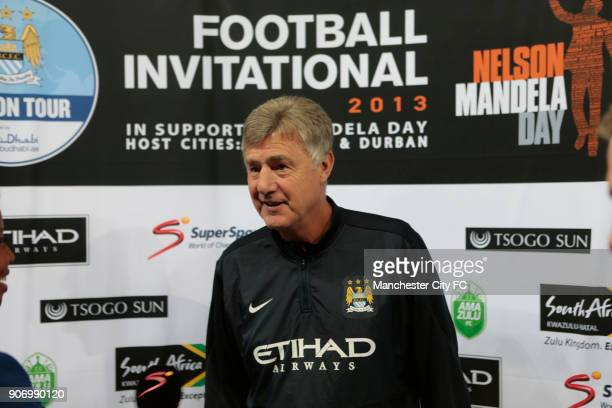 Manchester City Pre Season Tour Nelson Mandela Football Invitational AmaZulu v Manchester City Moses Mabhida Stadium Manchester City assistant...