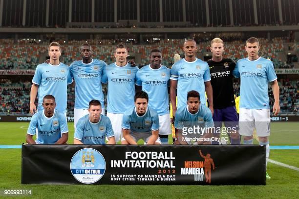 Manchester City Pre Season Tour Nelson Mandela Football Invitational AmaZulu v Manchester City Moses Mabhida Stadium Manchester City team group...