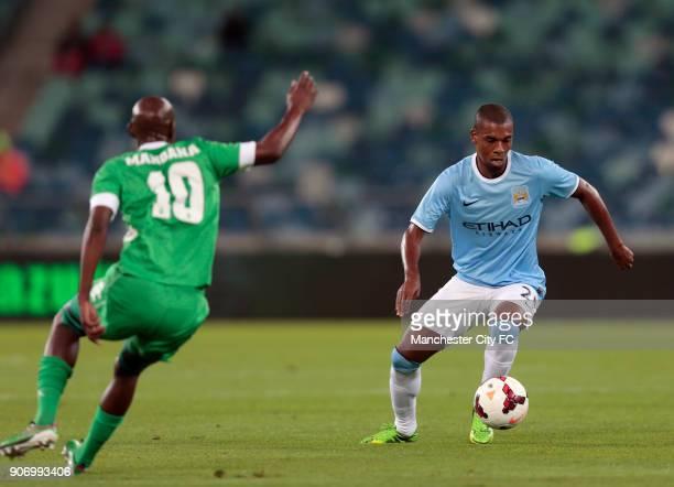 Manchester City Pre Season Tour Nelson Mandela Football Invitational AmaZulu v Manchester City Moses Mabhida Stadium Manchester City's Fernandinho on...