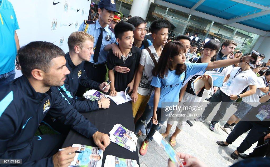 Soccer - Manchester City Pre Season Tour - Vietnam - Hanoi Nike Store : News Photo