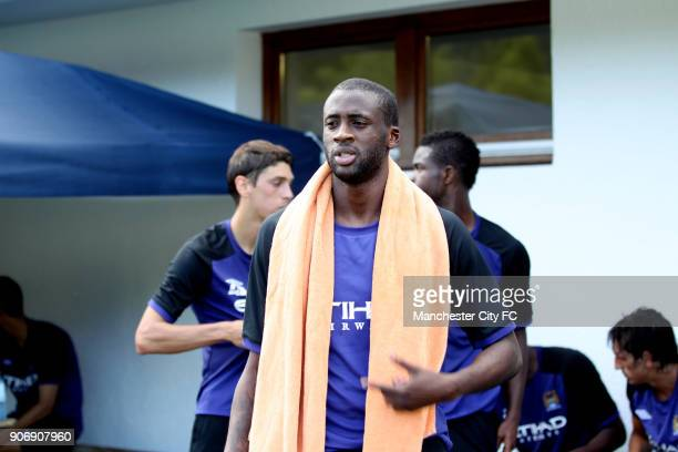 Manchester City Pre Season Training Camp Day Eleven Seefeld Austria Manchester City's Yaya Toure