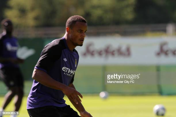 Manchester City Pre Season Training Camp Day Eleven Seefeld Austria Manchester City's Vincent Kompany during training
