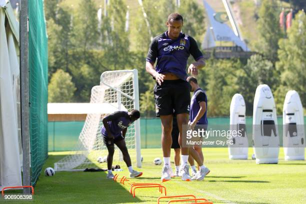Manchester City Pre Season Training Camp Day Eleven Seefeld Austria Manchester City's Vincent Kompany is put through his paces
