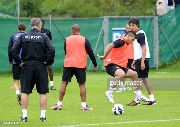 Manchester City Pre Season Training Camp Day Eleven Seefeld Austria Manchester City's Sergio Aguero during training