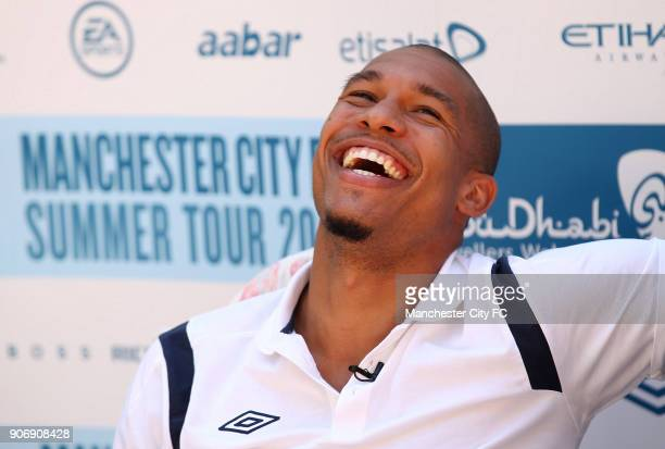 Manchester City Pre Season Training Camp Day Eleven Seefeld Austria Manchester City's Nigel de Jong in relaxed mood following training