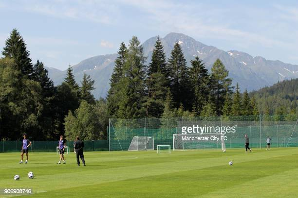 Manchester City Pre Season Training Camp Day Eleven Seefeld Austria Manchester City training in Seefeld Austria