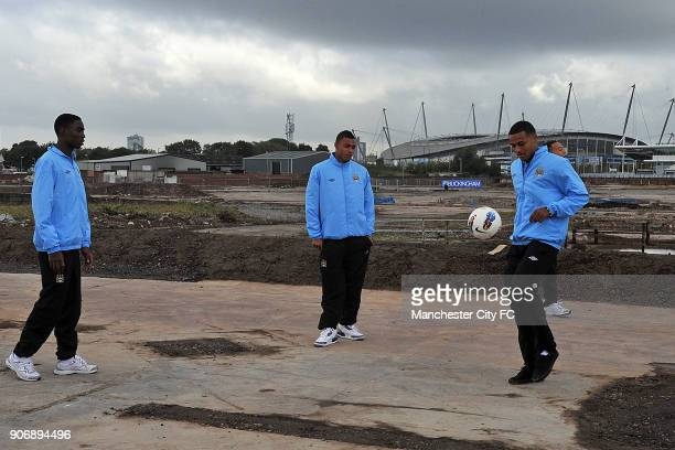 Manchester City Proposed New Youth Team Development and First Team Training Centre Manchester Manchester City's R to L Courtney MappinWalters Reece...
