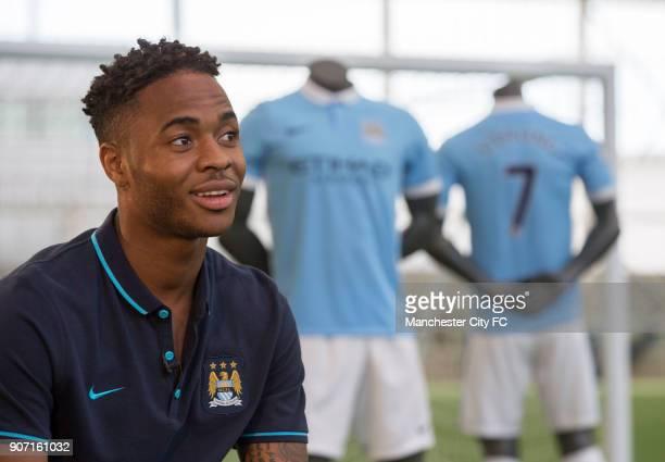Manchester City Sign Raheem Sterling Raheem Sterling is interviewed at the Manchester City training complex