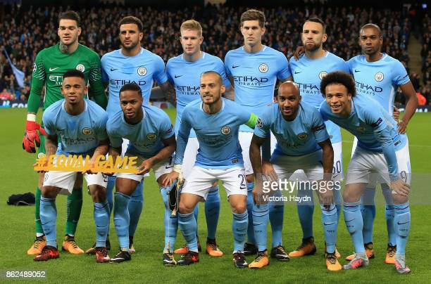 Manchester City squad pose for a team photo during the UEFA Champions League group F match between Manchester City and SSC Napoli at Etihad Stadium...