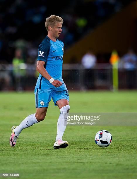 Manchester City striker Alex Zinchenko plays against Borussia Dortmund during the 2016 International Champions Cup China match at the Shenzhen...