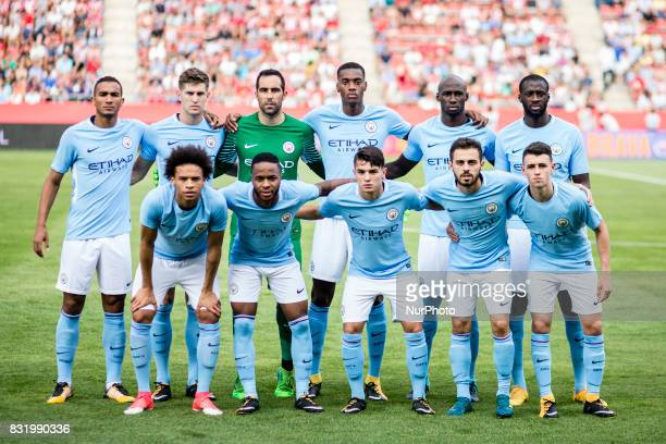 Manchester City team during the Costa Brava Trophy match between Girona FC and Manchester City at Estadi de Montilivi on August 15 2017 in Girona...