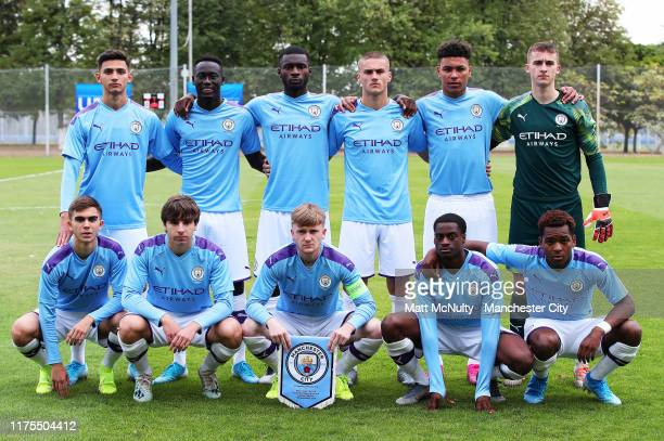 Manchester City team group prior to the UEFA Youth League match against Shakhtar Donetsk on September 18 2019 in Kharkiv Ukraine