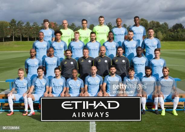 Manchester CIty Team Photo A team group photo of the 2016/2017 Manchester City Team Back Row John Stones Willy Caballero Claudio Brava Angus Gunn...
