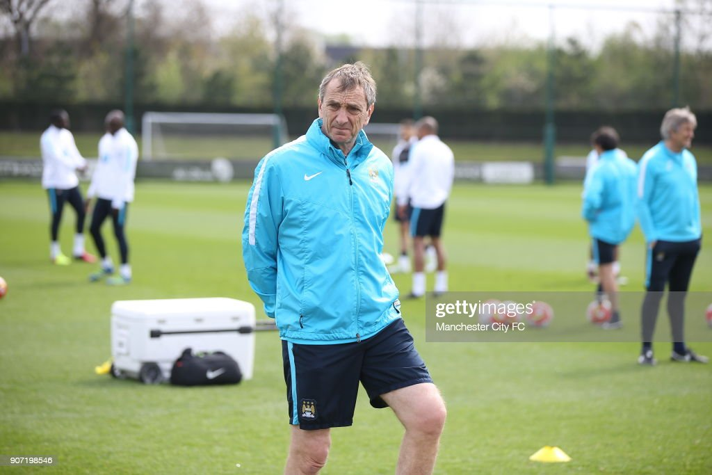 Manchester City Training, City Football Academy, Manchester City assistant manager Ruben Cousillas