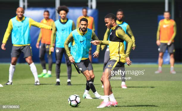 Manchester City Training City Football Academy Manchester City's Gael Clichy during training