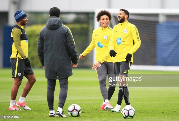 Manchester City Training City Football Academy Manchester City's Gael Clichy laughing during training