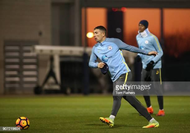 Manchester City Training City Football Academy Manchester City's Aleksandar Kolarov in training
