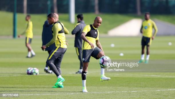 Manchester City Training City Football Academy Manchester City's Fabian Delph in training