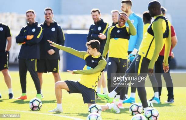 Manchester City Training City Football Academy Manchester City's Jesus Navas during training