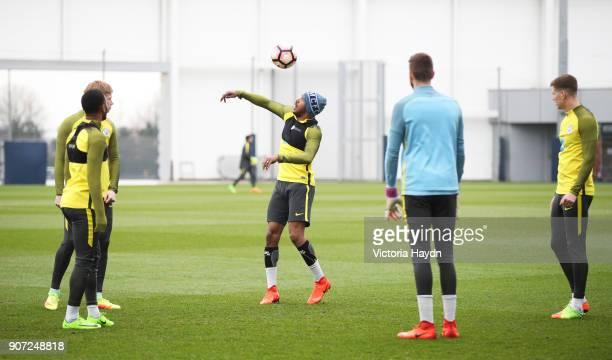 Manchester City Training City Football Academy Manchester City's Fabian Delph during training