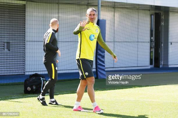 Manchester City Training City Football Academy Manchester City's Aleksandar Kolarov during training