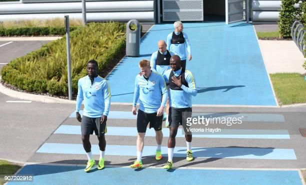 Manchester City Training City Football Academy Manchester City's squad walking to training