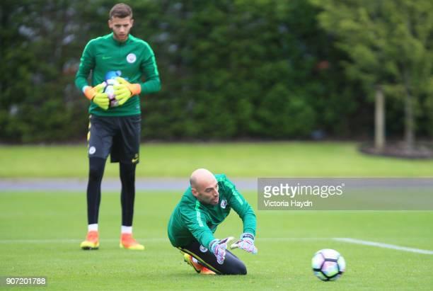 Manchester City Training City Football Academy Manchester City's Willy Caballero in training