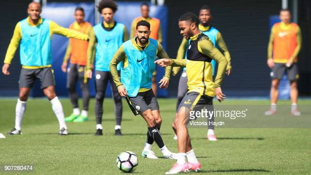 Manchester City Training City Football Academy ManchesterCity's Gael Clichy during training