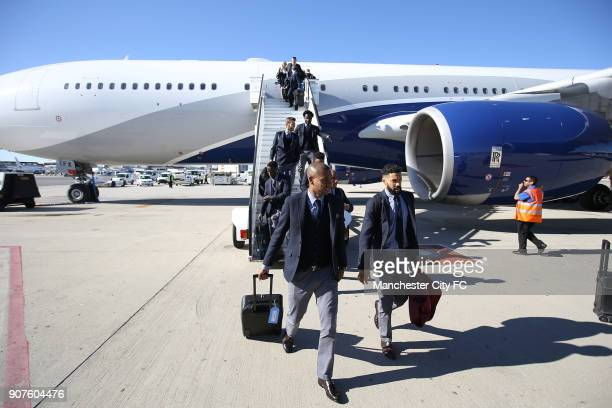 Manchester City Travel to Madrid Manchester Airport Manchester City's Fernandinho and Gael Clichy exit the plane in Madrid