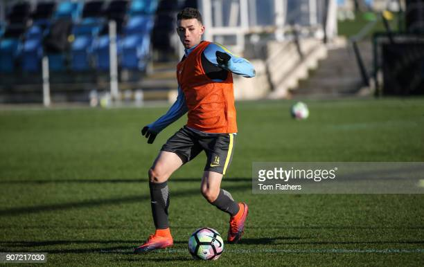 Manchester City U18 Training City Football Academy Manchester City's Phil Foden during training