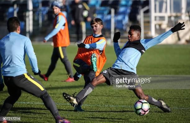 Manchester City U18 Training City Football Academy Manchester City's Iker Pozo La Rosa in training