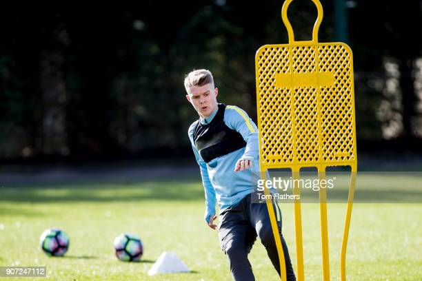 Manchester City U18 Training City Football Academy Manchester City's Jacob Davenport in training