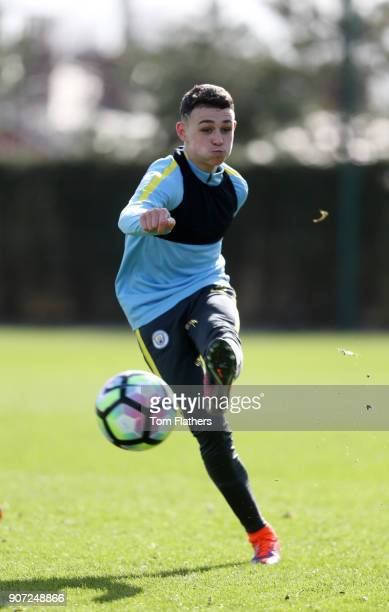 Manchester City U18 Training City Football Academy Manchester City's Phil Foden in training