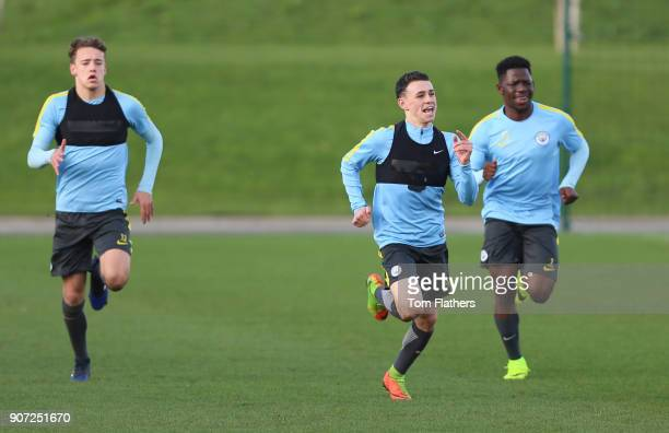 Manchester City U18 Training City Football Academy Manchester City's Phil Foden in training